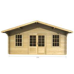 5m x 3m Deluxe Apex Log Cabin - Double Glazing - 44mm Wall Thickness (2089)