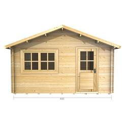 4m x 5m Deluxe Apex Log Cabin - Double Glazing - 44mm Wall Thickness (2068)