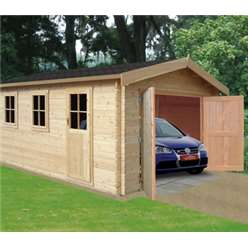 3.8m x 3.59m BRADENHAM LOG CABIN - 34MM TONGUE AND GROOVE LOGS