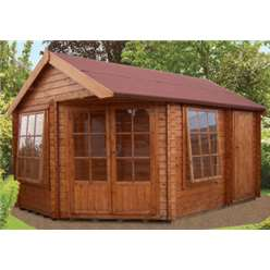 4.74m x 5.69m LIVIA & ROPSLEY LOG CABIN - 28MM TONGUE AND GROOVE LOGS