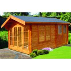 4.49m x 4.49m DRUMMOND LOG CABIN  - 44MM TONGUE AND GROOVE LOGS