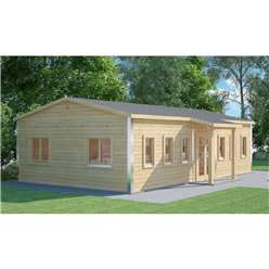 6m x 10m (60m2) Premier School Classroom - Building Compliant - Log Cabin - 70mm Wall Thickness - Double Glazing