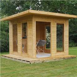 INSTALLED 10 x 10 Cube Tongue and Groove Summerhouse (Tongue and Groove Floor and Roof) - INSTALLED