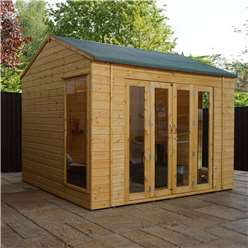 10 x 8 Vermont Reverse Tongue and Groove Summerhouse (12mm Tongue and Groove Floor)