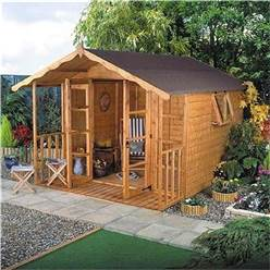 8 x 8 Deluxe Tongue and Groove Summerhouse with 12mm Tongue and Groove Floor and Roof