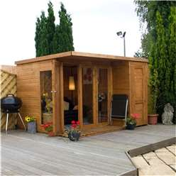 10 x 8 Deluxe Tongue and Groove Pent Summerhouse & Shed with 12mm Tongue Groove and Floor