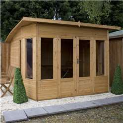 10 x 10 Deluxe Tongue and Groove Summerhouse with 12mm Tongue and Groove Floor (Plywood Roof)