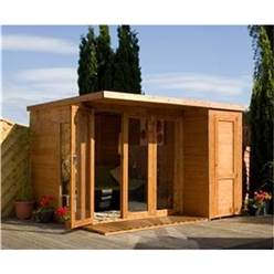 12 x 8 Deluxe Tongue and Groove Pent Summerhouse & Shed with 12mm Tongue Groove and Floor