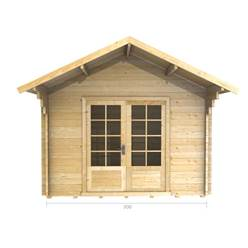 3m x 3m Deluxe Apex Log Cabin - Single Glazing - 28mm Wall Thickness (2035)