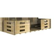 Verandah For 4m X 8m (4m X 1.5m) - 44mm Log Cabin