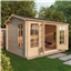 5m x 4m Deluxe Reverse Log Cabin (Single Glazing) + Free Floor & Felt & Safety Glass (28mm Tongue and Groove)
