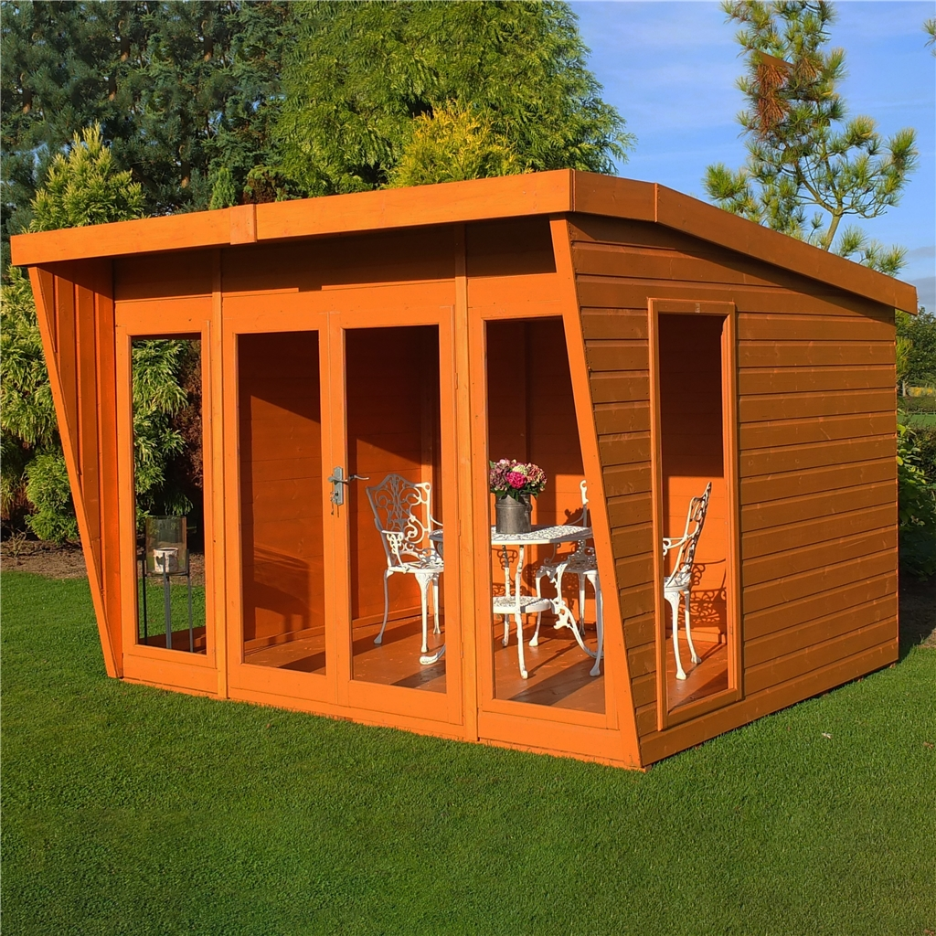 10 x 10 superior pent summerhouse 12mm for Garden shed 10x10